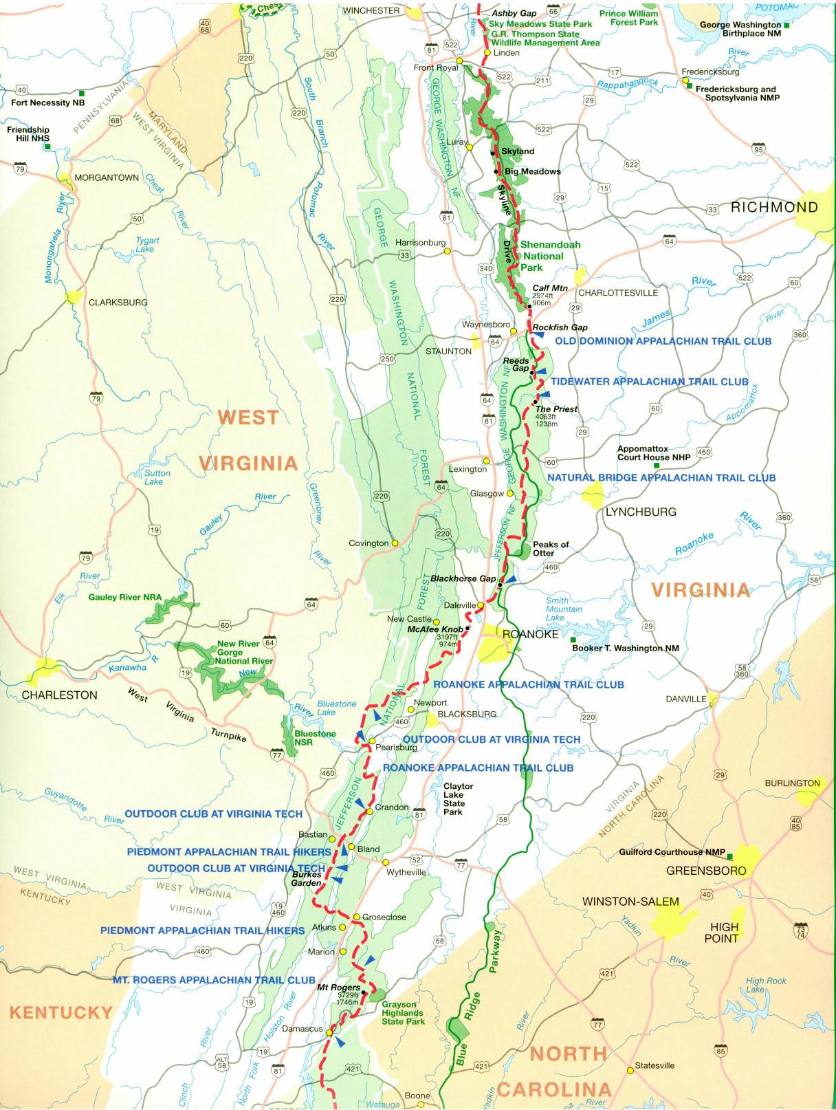 Virginia Appalachian Trail | AppalachianTrailTravelGuide.com